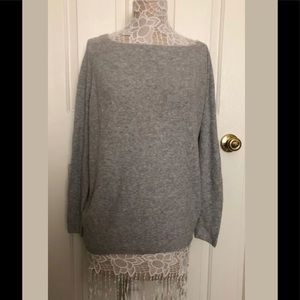 NWT Lou & Grey Light Gray Knit Long Sleeve Blouse